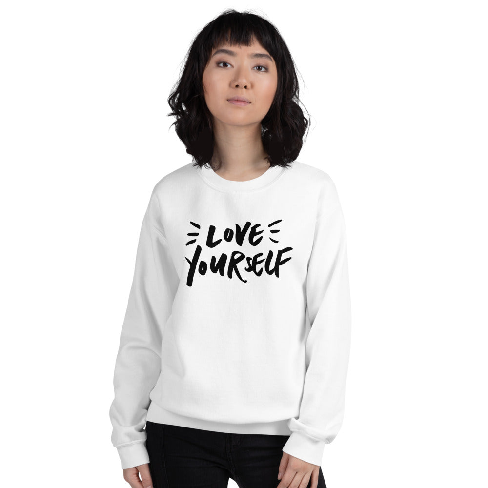 Love Yourself Sweatshirt | White Love Yourself for Women