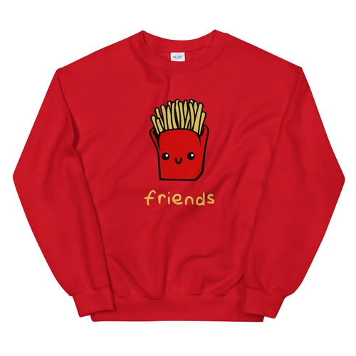 Friends Sweatshirt | Red Crewneck Friends Sweatshirt for Women & Girls