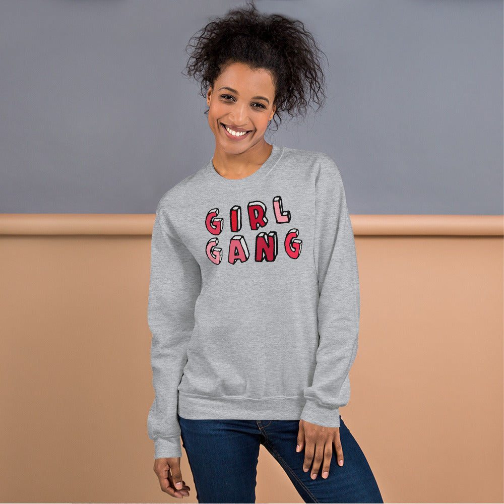 Girl Gang Sweatshirt | Grey Girl Gang Sweatshirt for Women