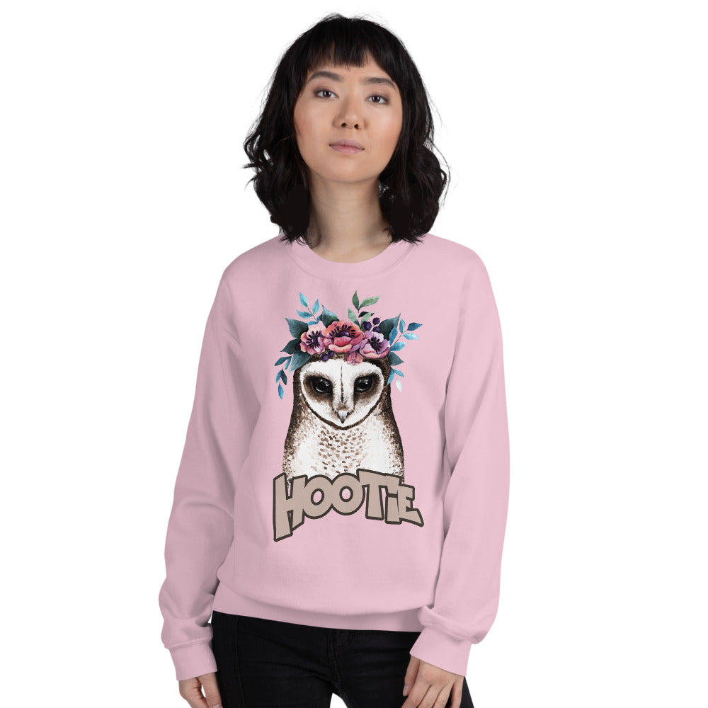 Hootie Sweatshirt | Pink Owl Hootie Sweatshirt for Women