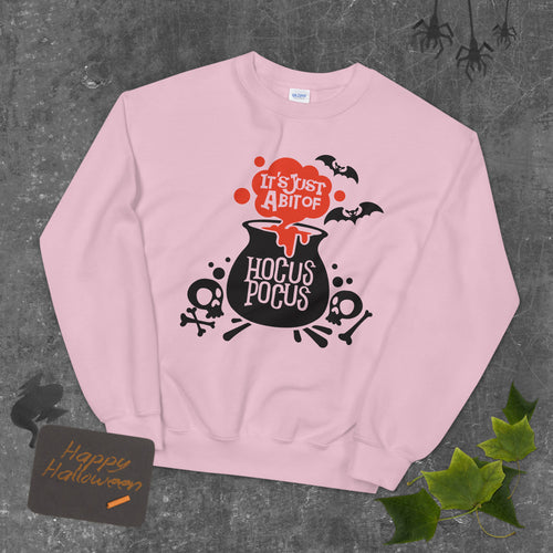 It's Just a Bit of Hocus Pocus Halloween Crewneck Sweatshirt