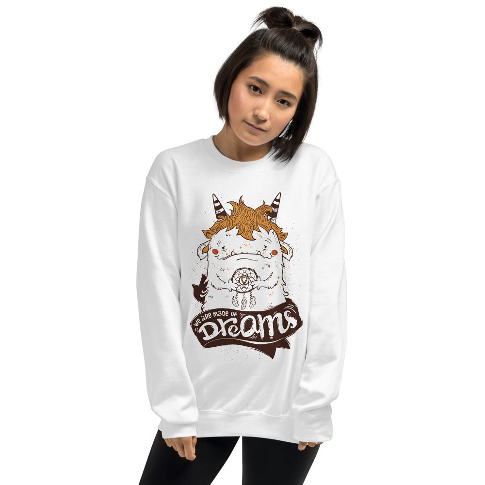 Cute Dream Catcher Monster Quote Crewneck Sweatshirt