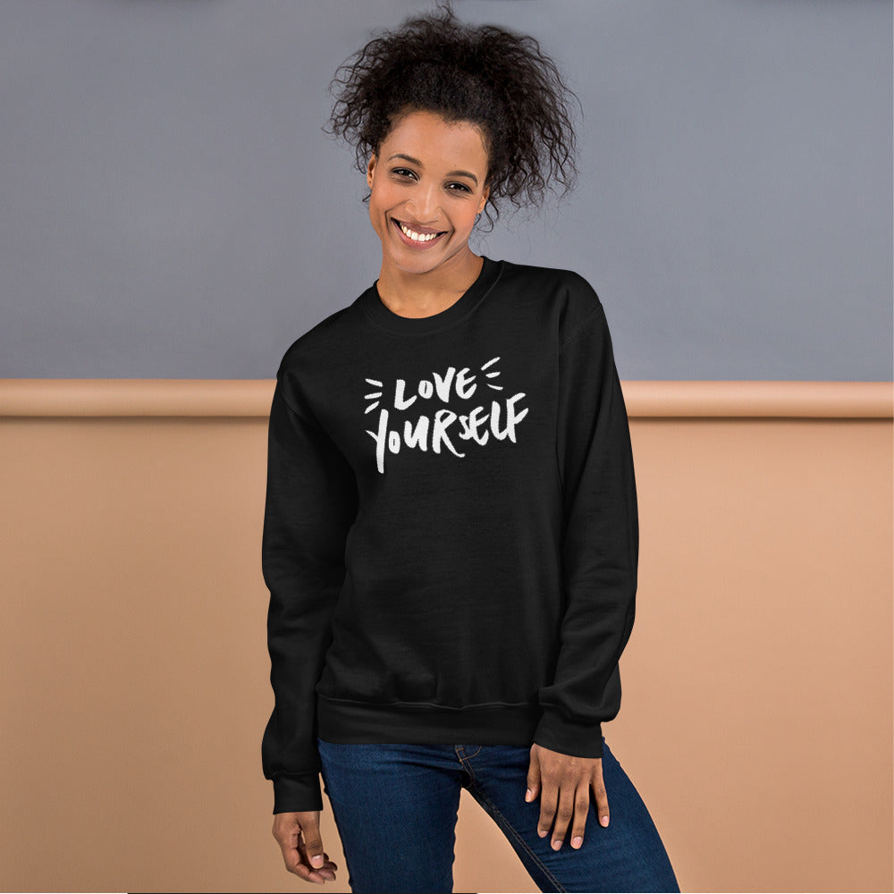 Love Yourself Sweatshirt | Black Love Yourself for Women