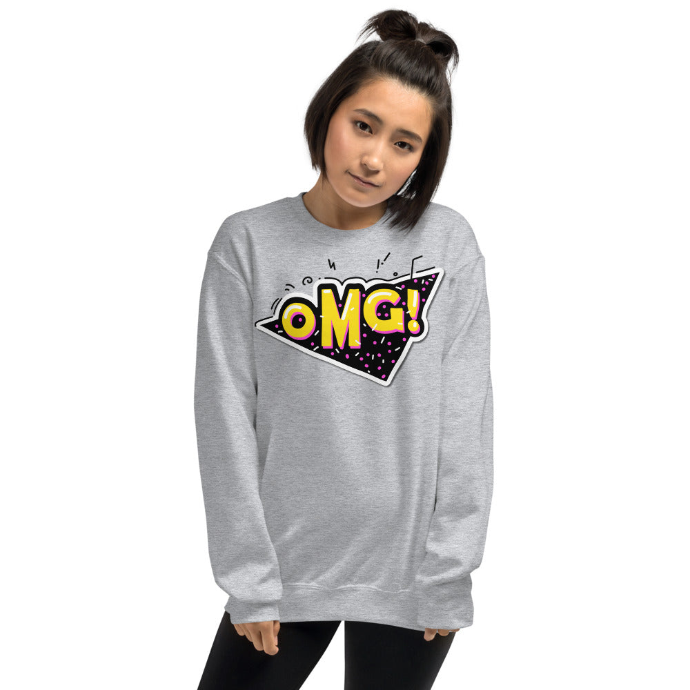 OMG Sweatshirt | Grey Oh My God Slang Sweatshirt for Women
