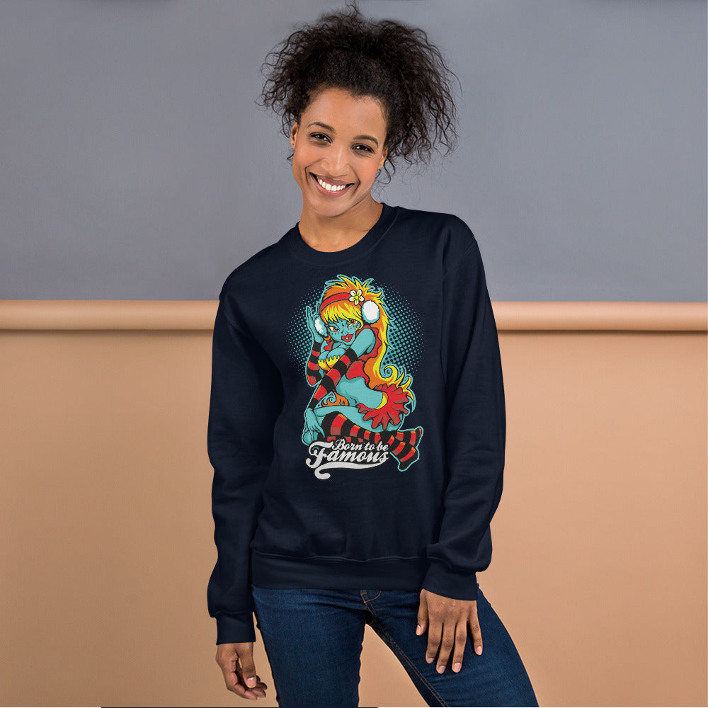 Born To Be Famous Crewneck Sweatshirt for Women