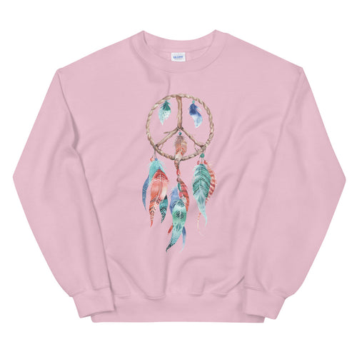 Dreamcatcher Sweatshirt | Pink Spiritual Peace Dreamcatcher Sweatshirt