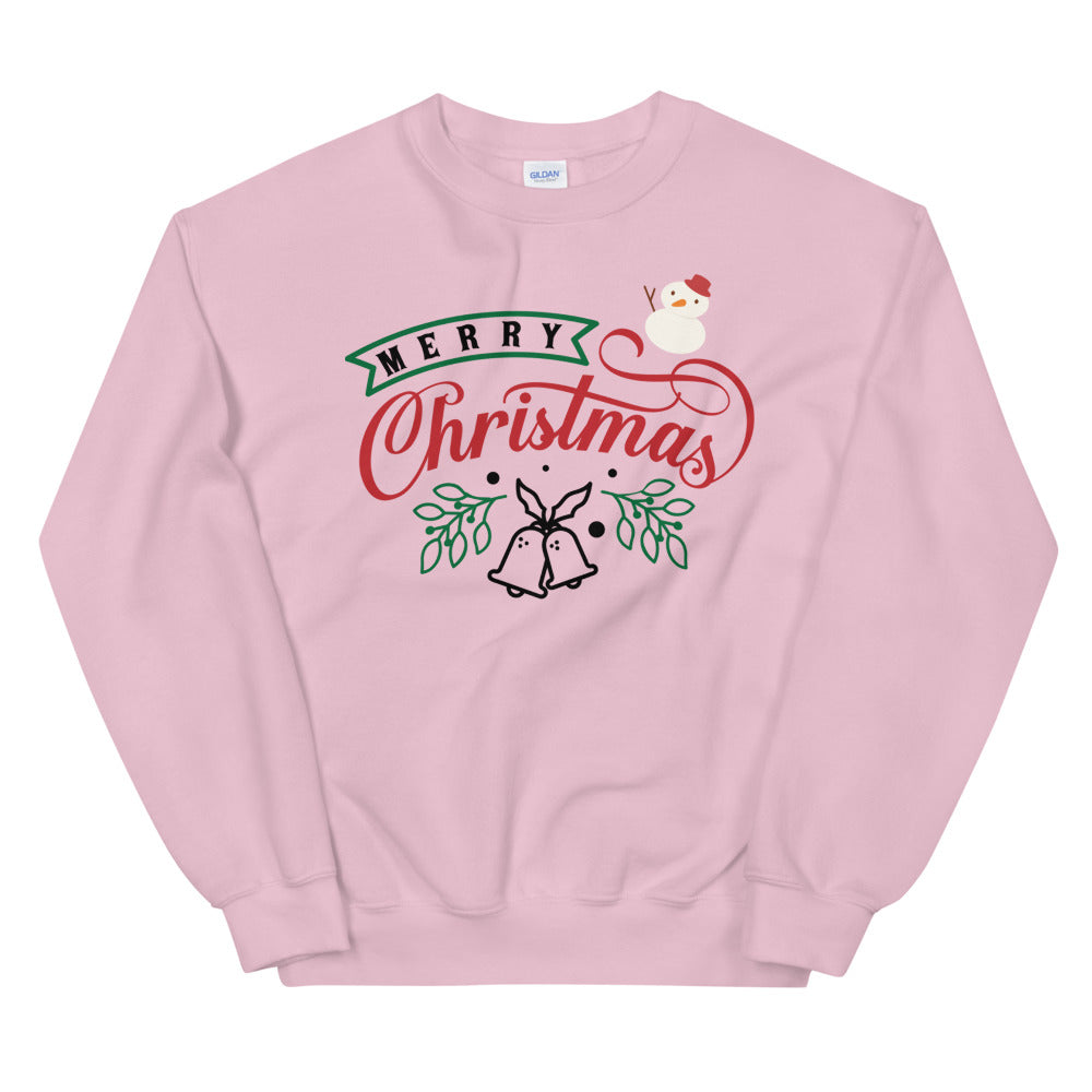 Merry Christmas Crewneck Sweatshirt for Women