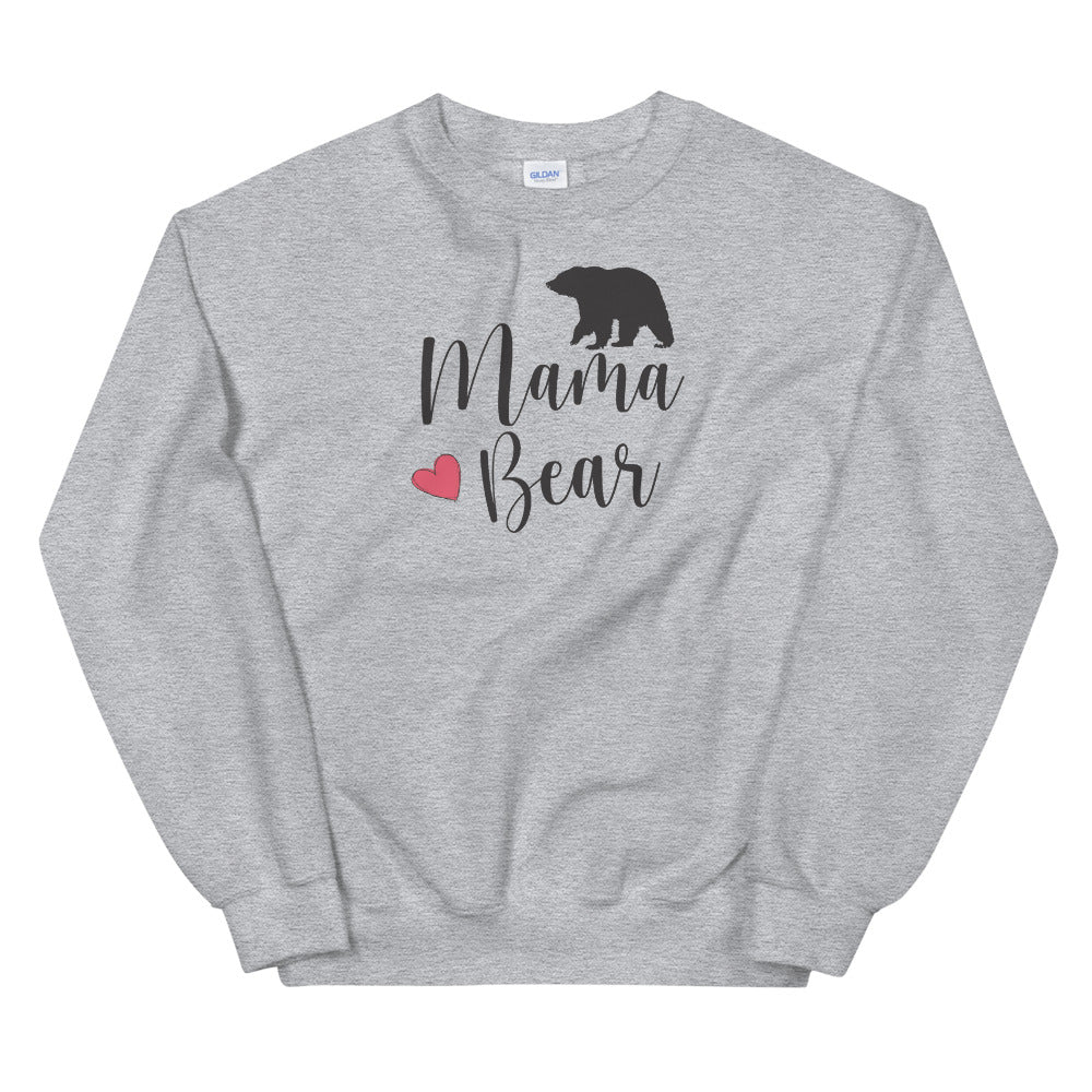 Mama Bear Sweatshirt in Grey Color for Women