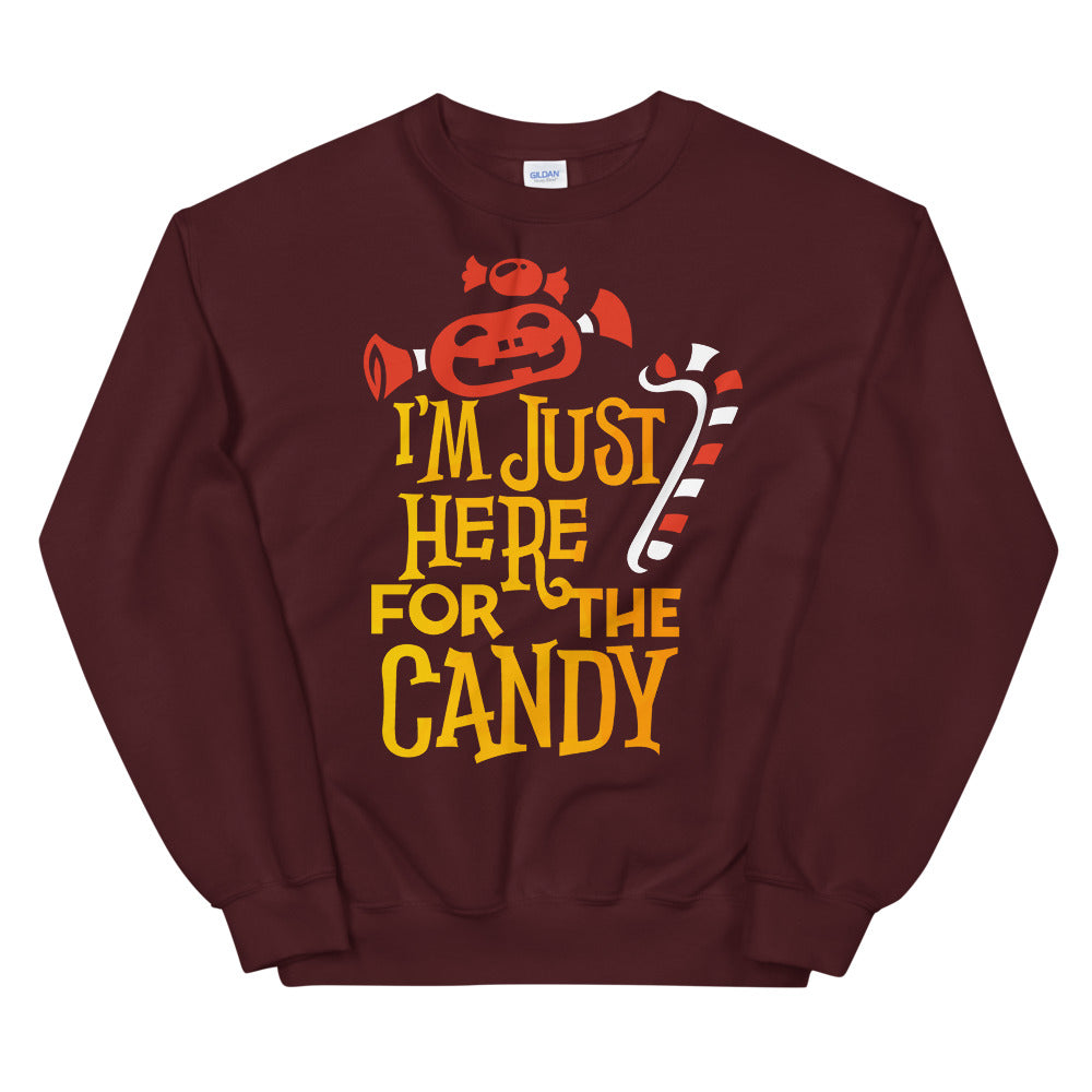 I am Just Here For The Candy Halloween Crewneck Sweatshirt