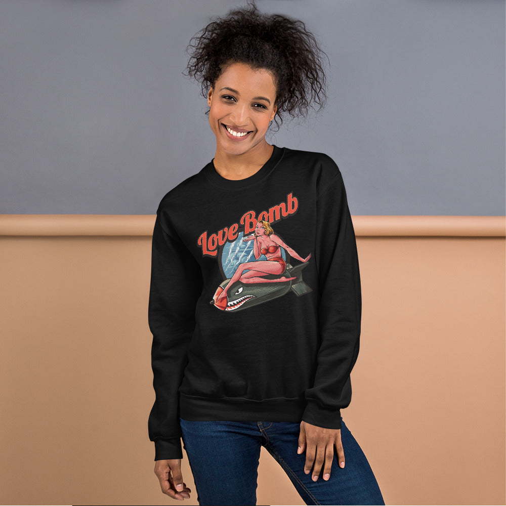 Love Bomb Sweatshirt | Black Vintage Love Bomb Sweatshirt