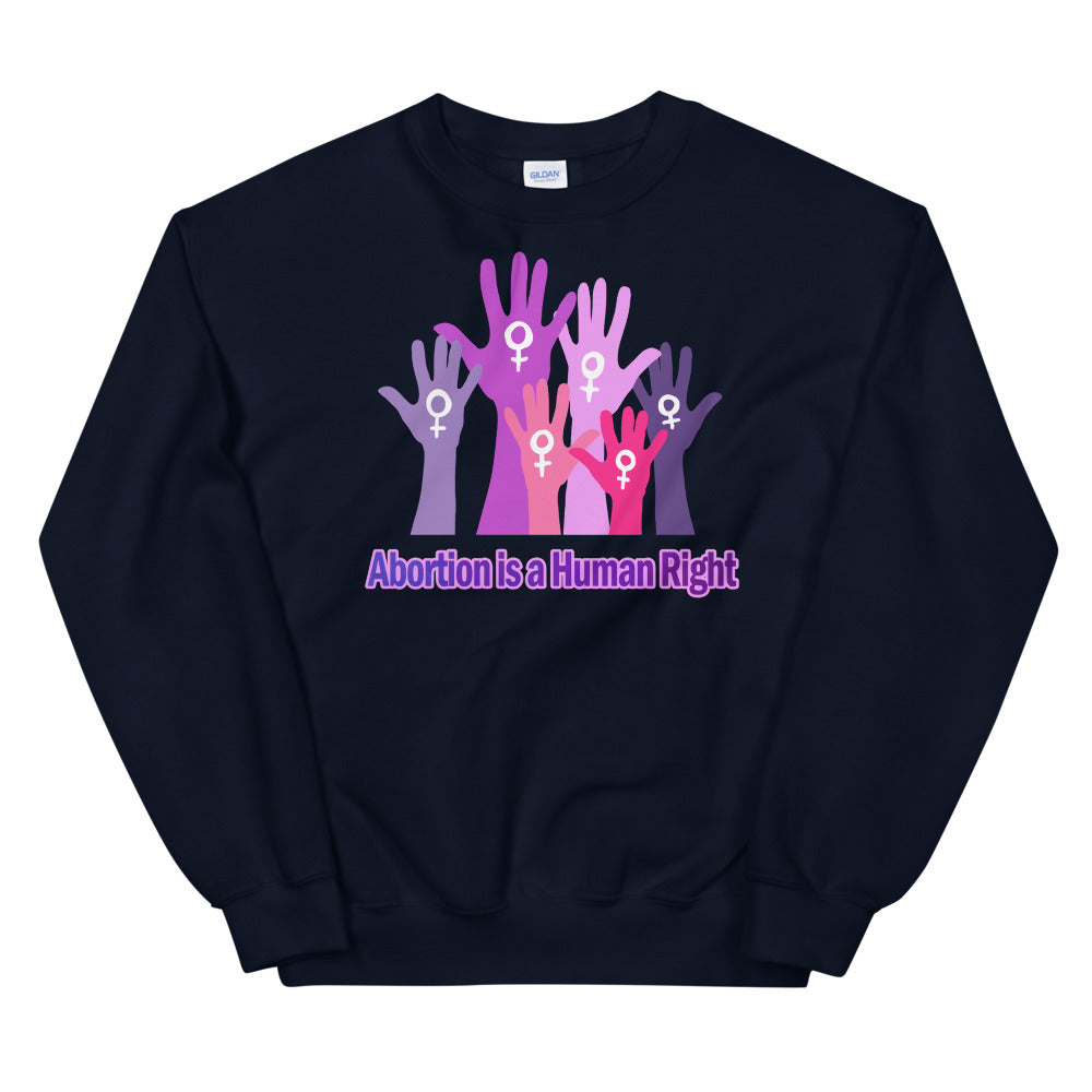 Abortion is Human Right Crewneck Sweatshirt for Women