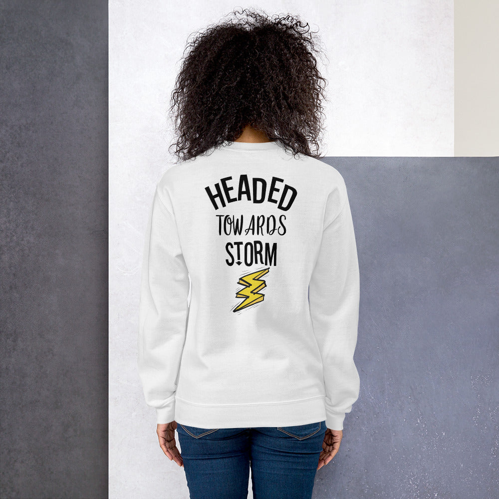 Headed Towards Storm Sweatshirt in White for Women
