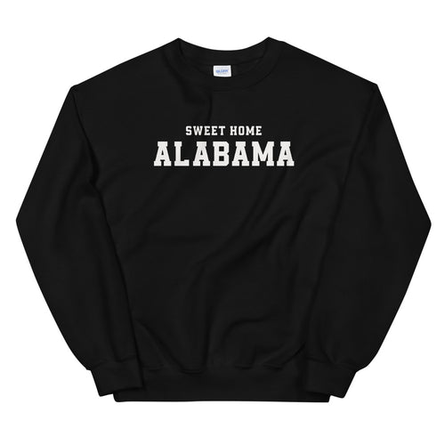 Sweet Home Alabama Sweatshirt | Black Alabama State Sweatshirt for Women
