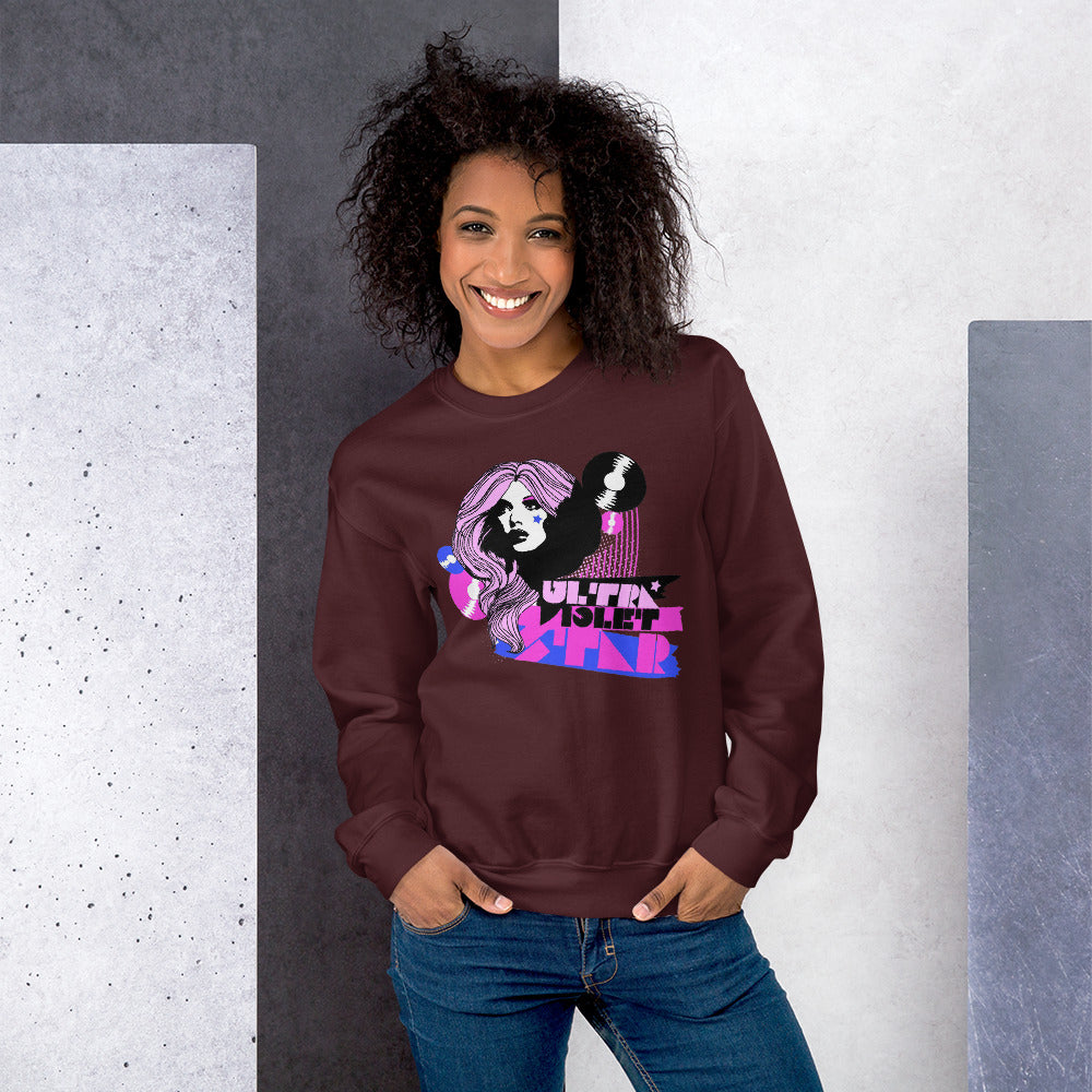 Ultraviolet Star Fashion Crewneck Sweatshirt for Women