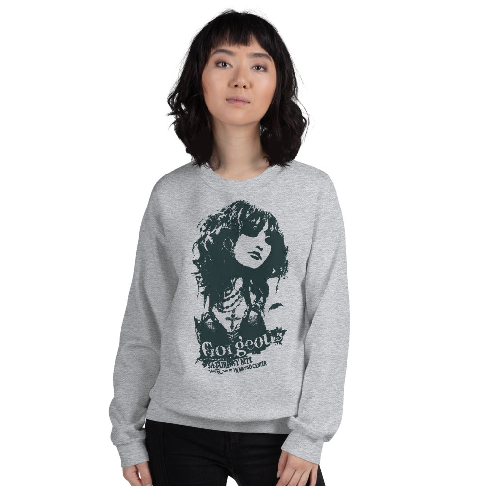 Gorgeous Saturday Night Club Crewneck Sweatshirt for Women