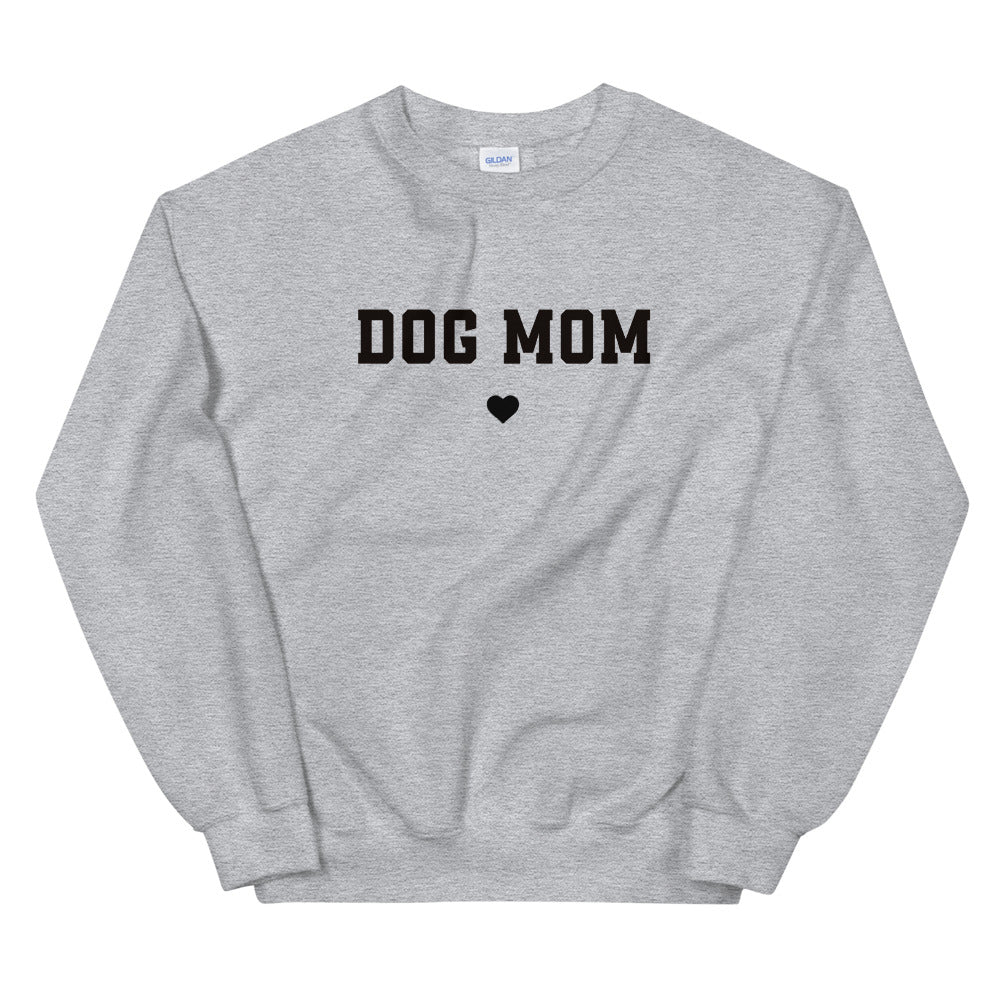 Dog Mom Sweatshirt | Grey Crewneck Dog Mom Sweatshirt for Women