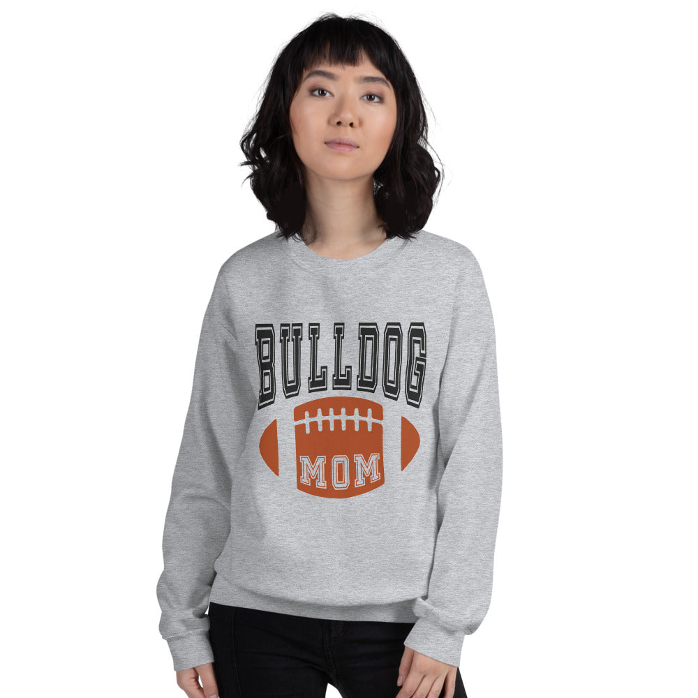Football Bulldog Mom Crewneck Sweatshirt for Women