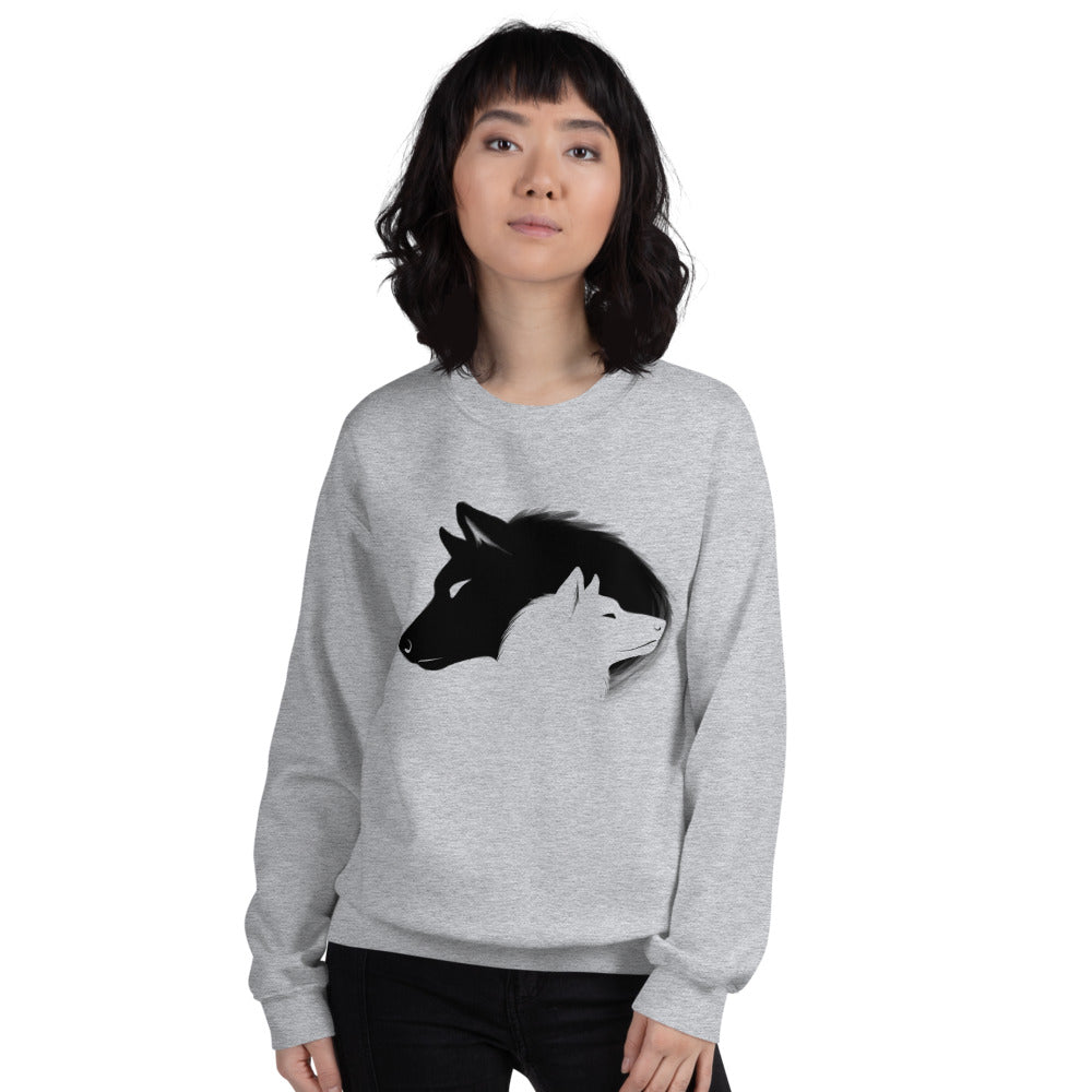 Alpha and Omega Wolf Crewneck Sweatshirt for Women