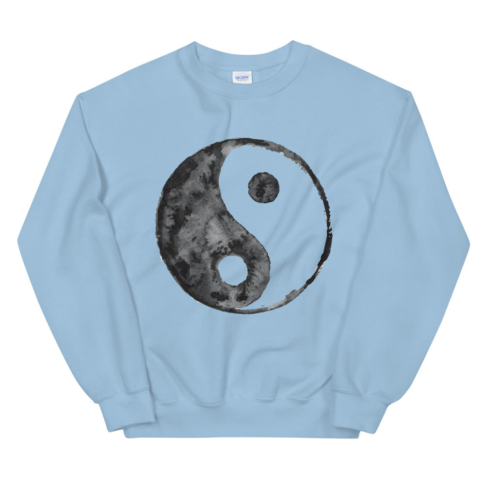 Chinese Peace Sign Symbol Watercolor Graphic Crewneck Sweatshirt