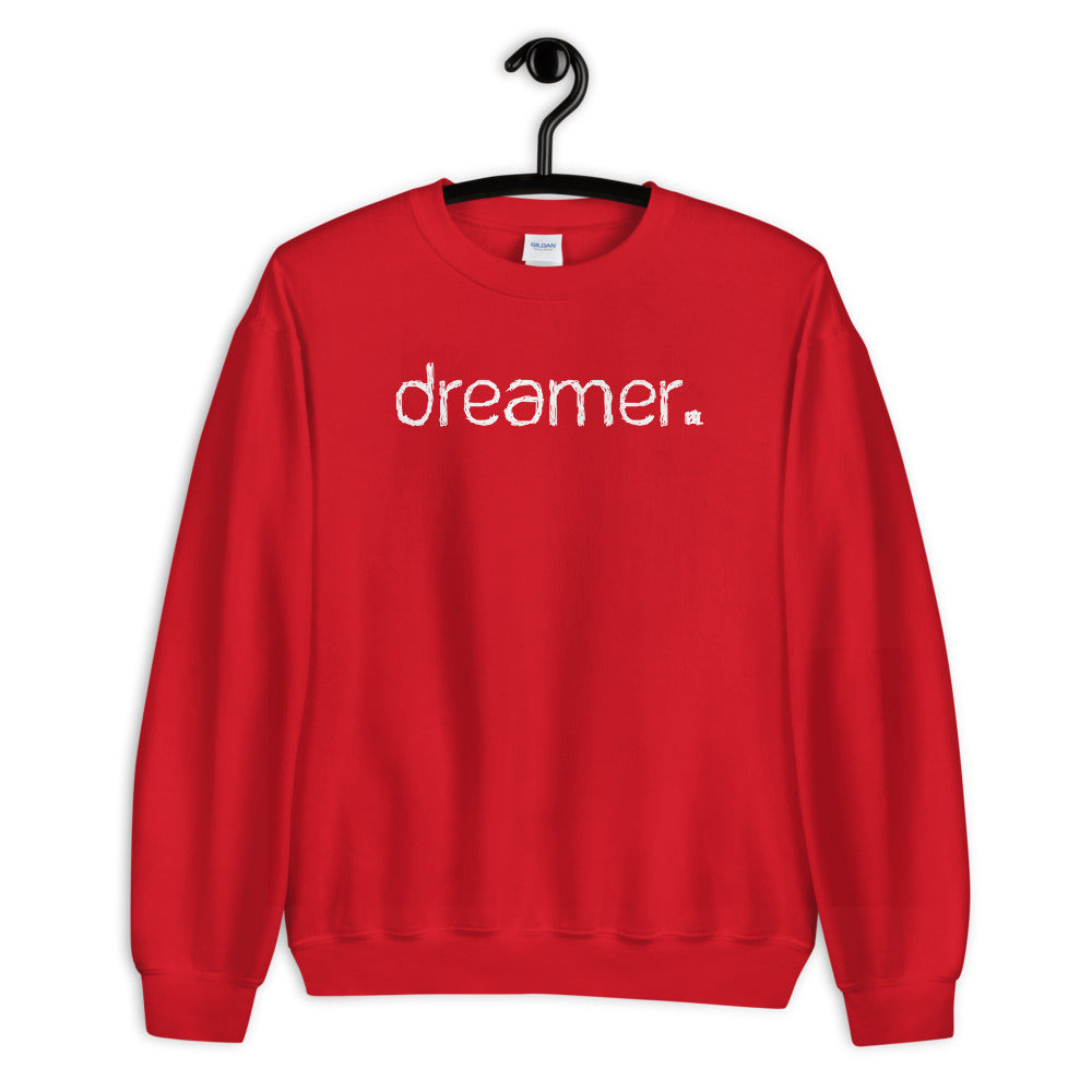 Red Dreamer Pullover Crewneck Sweatshirt for Women