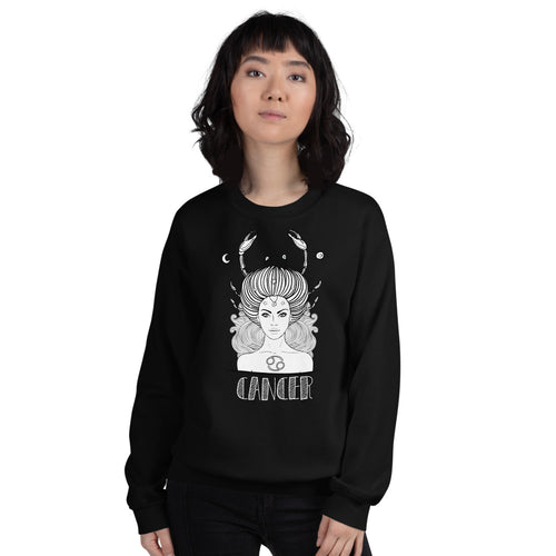 Cancer Sweatshirt | Black Crewneck Cancer Zodiac Sweatshirt