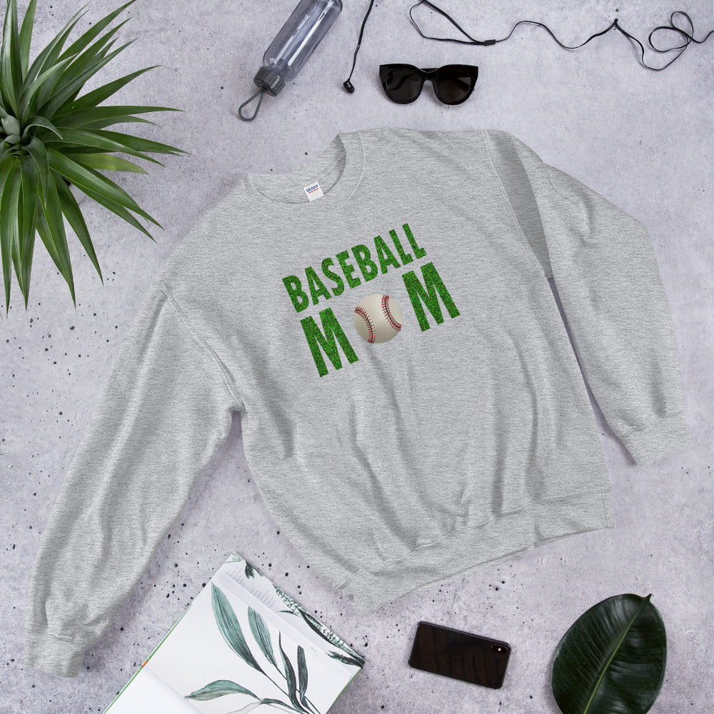Baseball Mom Meme Crewneck Sweatshirt for Mother