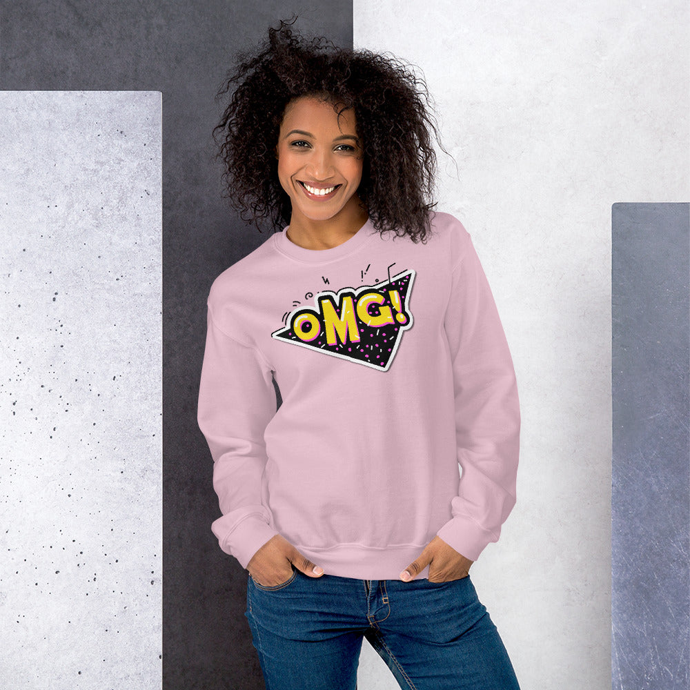 OMG Sweatshirt | Pink Oh My God Slang Sweatshirt for Women