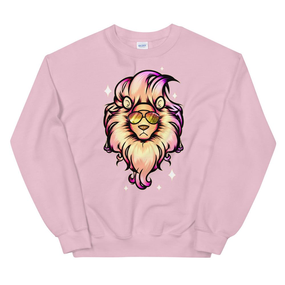 Fashion Lion King Crewneck Sweatshirt for Women