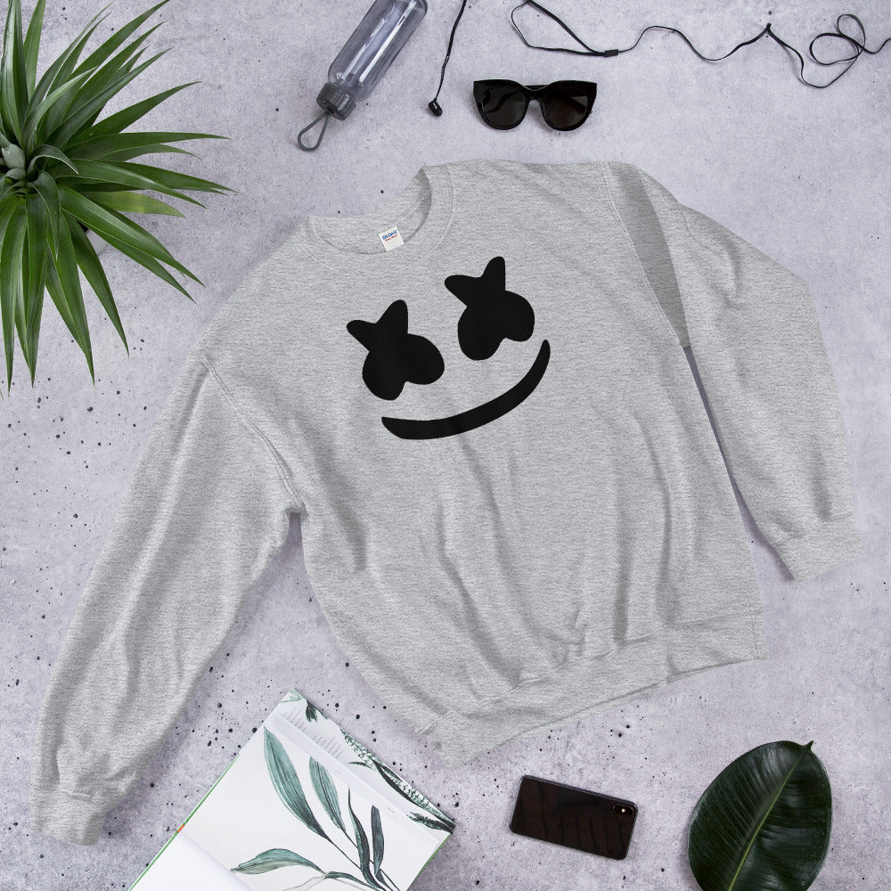 Dj Marshmello Sweatshirt - Grey Marshmello Sweatshirt for Women