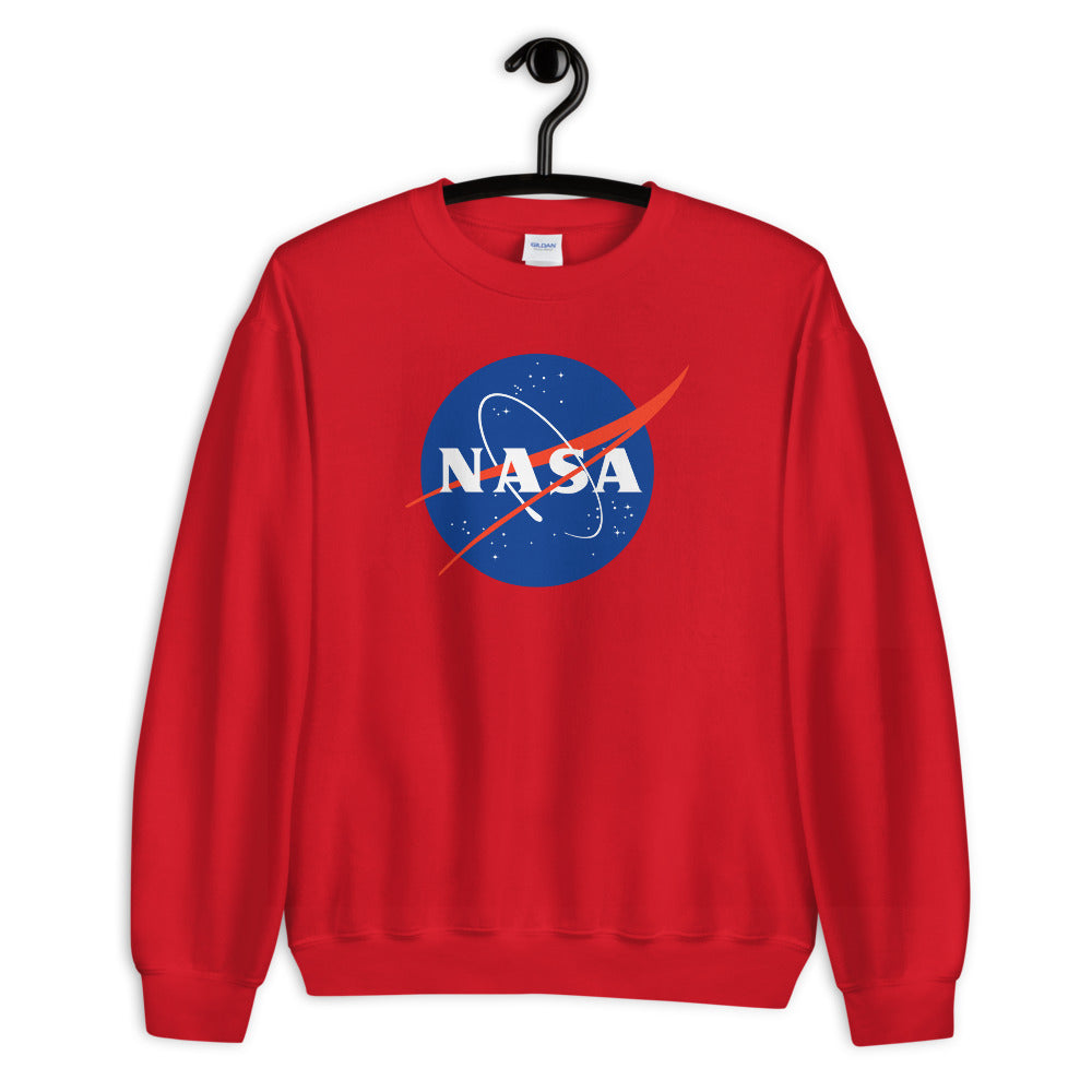 NASA Sweatshirt | Red Crewneck Nasa Logo Sweatshirt for Women and Girls