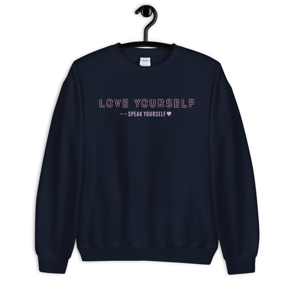 Love Yourself & Speak Yourself Sweatshirt in Navy for Women
