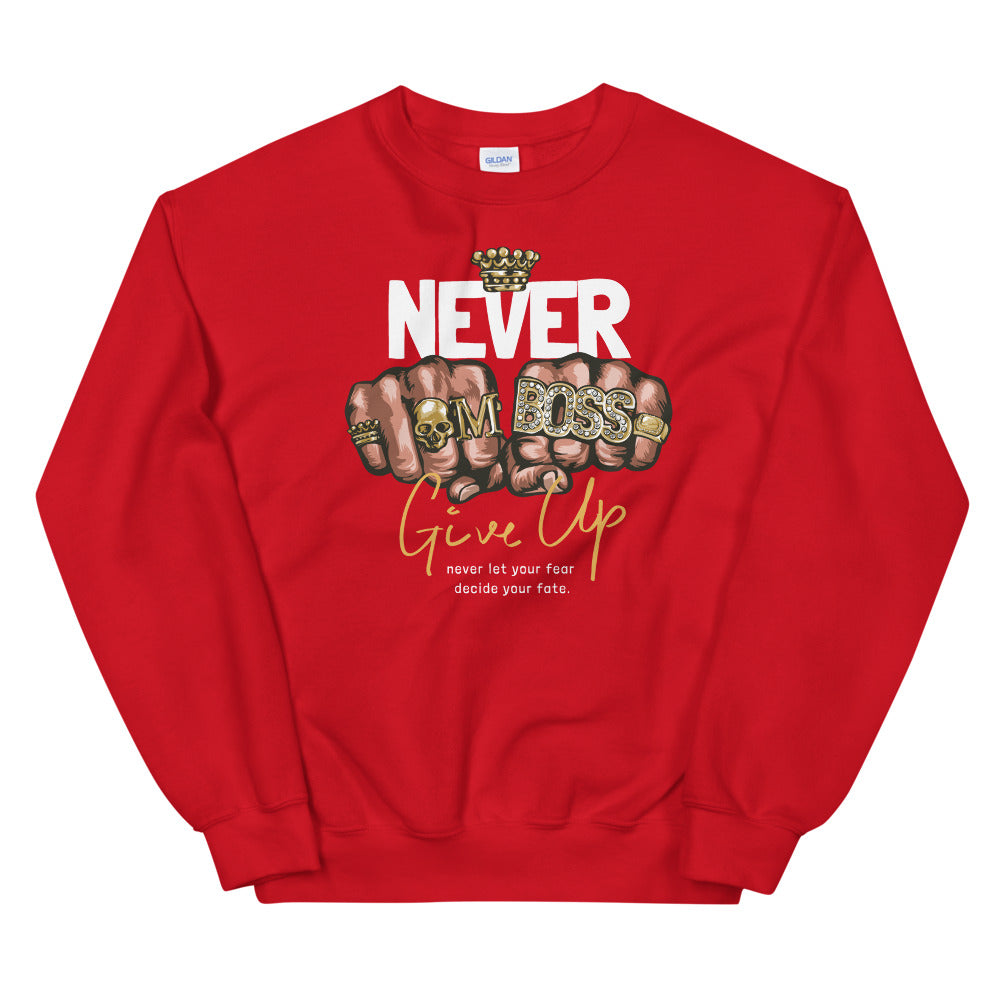 Never Give Up Sweatshirt | Never Let Your Fear Decide Your Fate