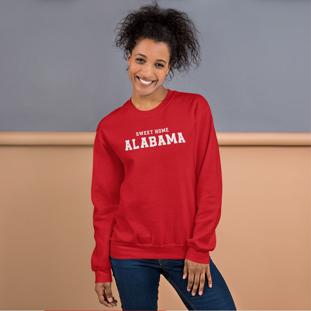Sweet Home Alabama Sweatshirt | Red Alabama State Sweatshirt for Women