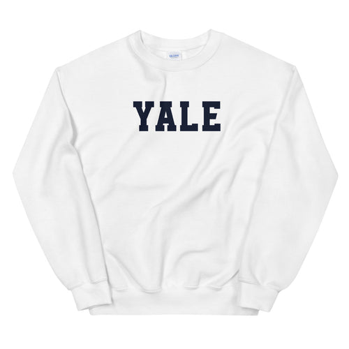 Yale Sweatshirt | White Yale Pullover Crewneck for Women