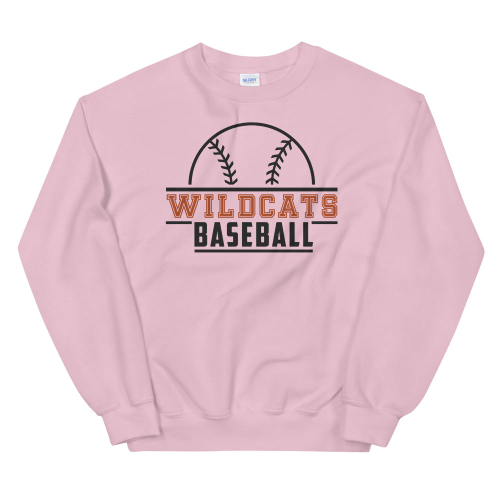 Wildcats Baseball Crewneck Sweatshirt for Women