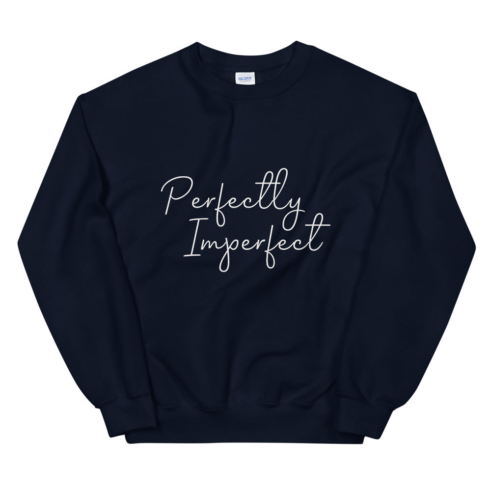 Perfectly Imperfect Sweatshirt | Navy Perfectly Imperfect Crew Neck Sweatshirt for Women