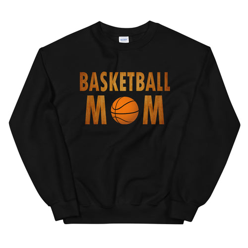 Basketball Mom Meme Pullover Crewneck Sweatshirt for Mothers Day