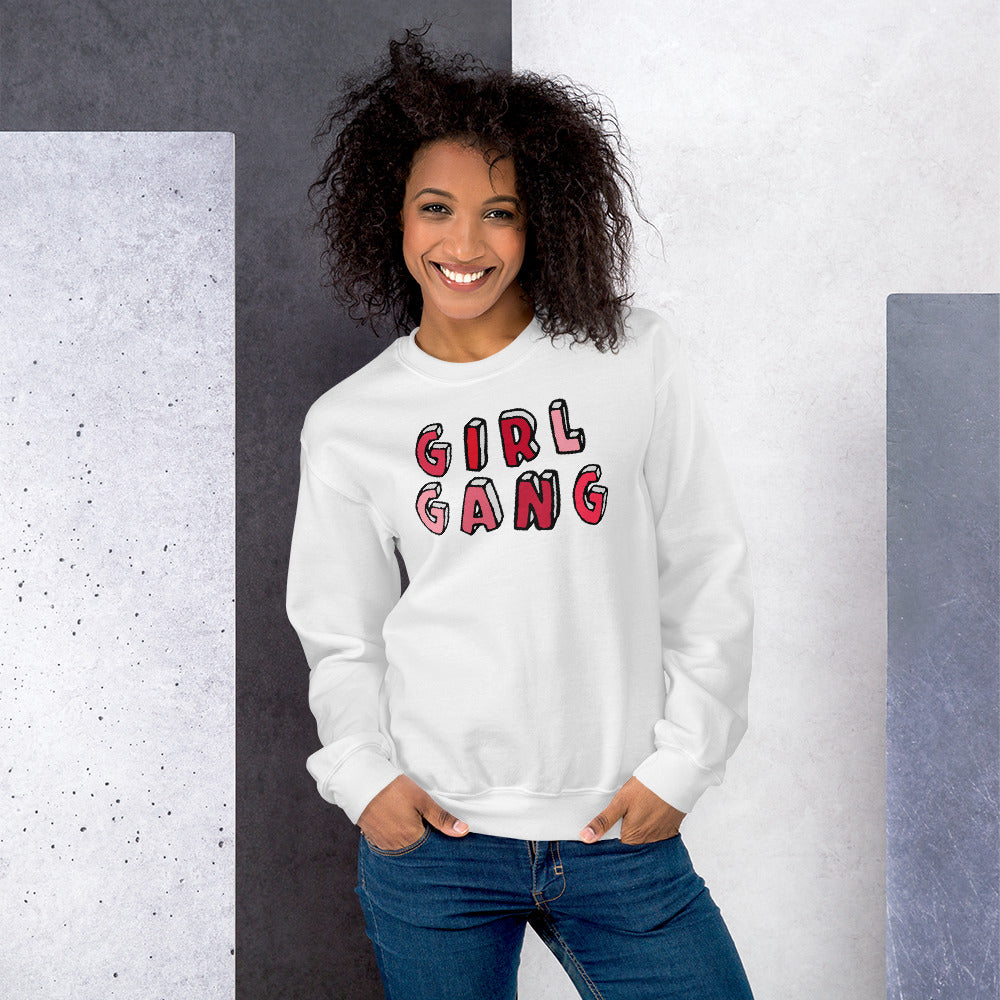 Girl Gang Sweatshirt | White Girl Gang Sweatshirt for Women