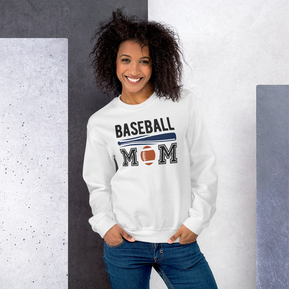 Baseball Mom Crewneck Sweatshirt for Women