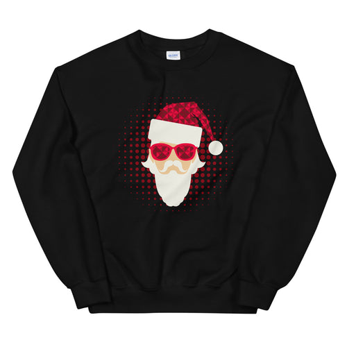 Modern Disco Santa Claus Christmas Crewneck Sweatshirt for Women