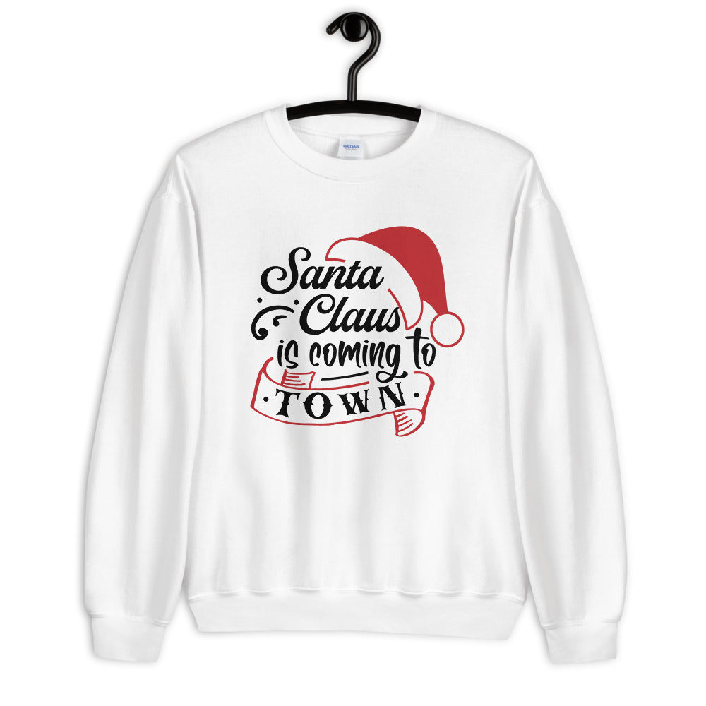 Santa Claus is Coming To Town Sweatshirt for Women