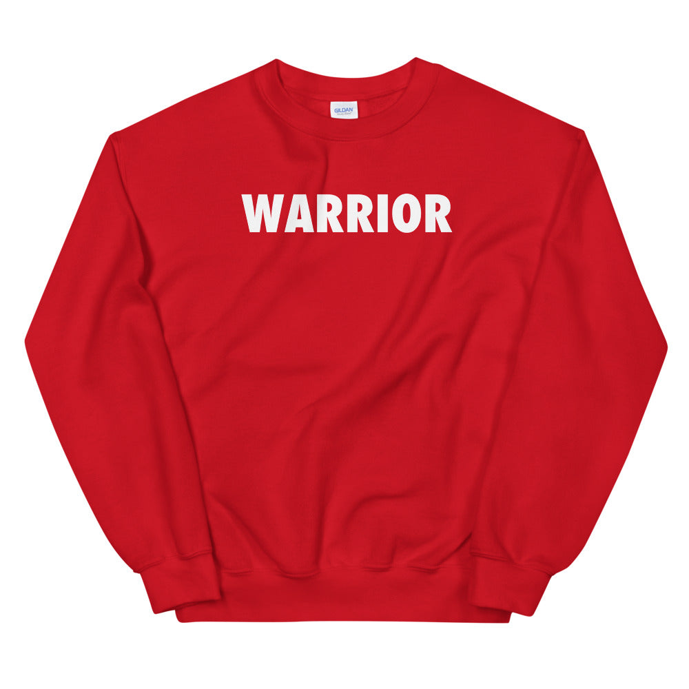 Warrior Sweatshirt | Red One Word Sweatshirt for Women