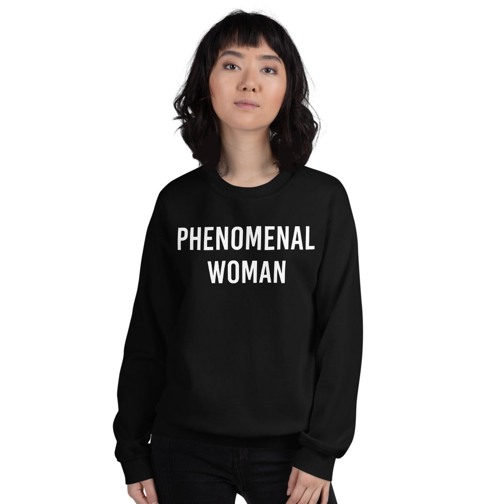 Phenomenal Woman Sweatshirt - Black Empowerment Sweatshirt for Women