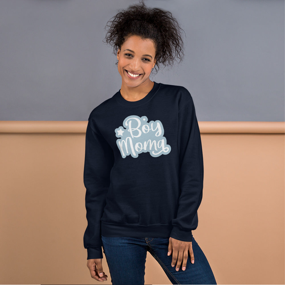 Boy Mom sweatshirt Sweatshirt in Navy Color for Women