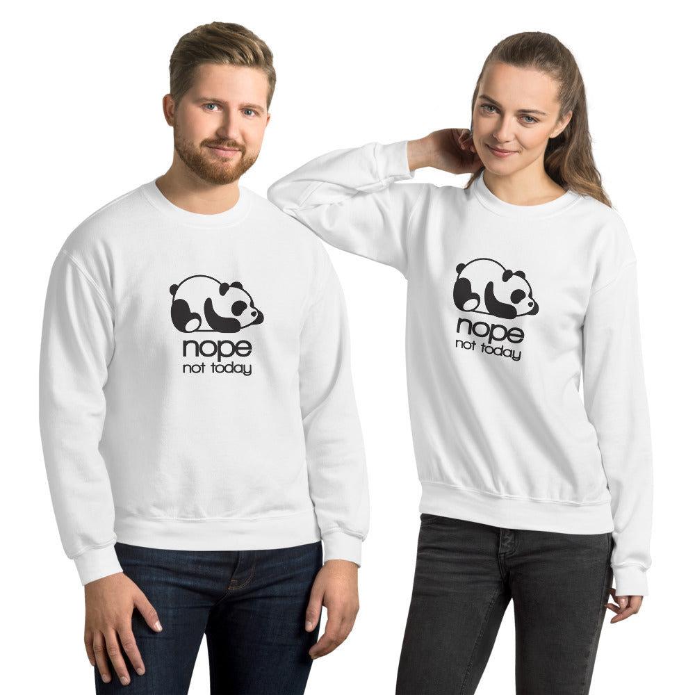Nope! Cute Not Today Panda Crewneck Sweatshirt for Women