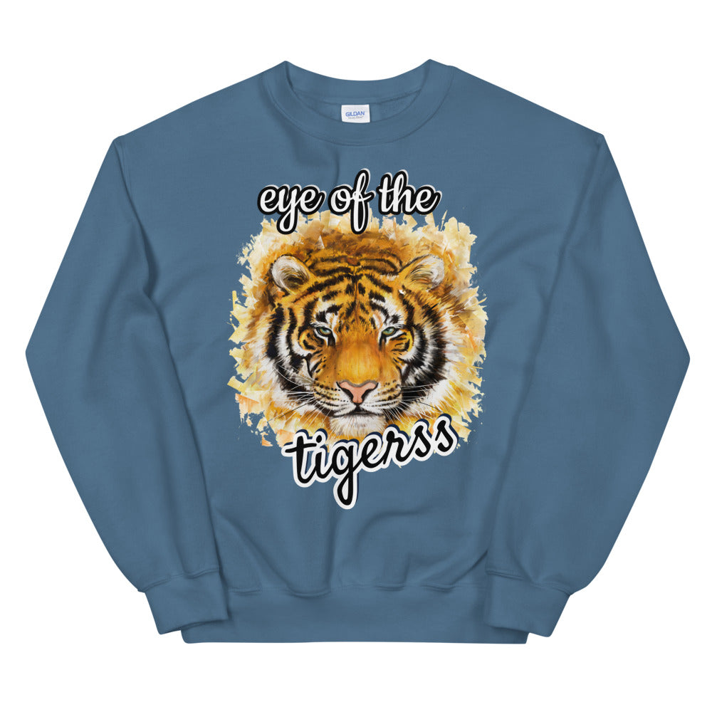 Eye Of The Tigress Crewneck Sweatshirt for Women
