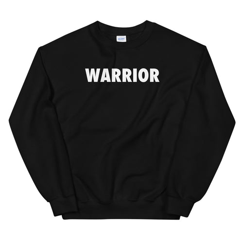 Warrior Sweatshirt | Black One Word Sweatshirt for Women