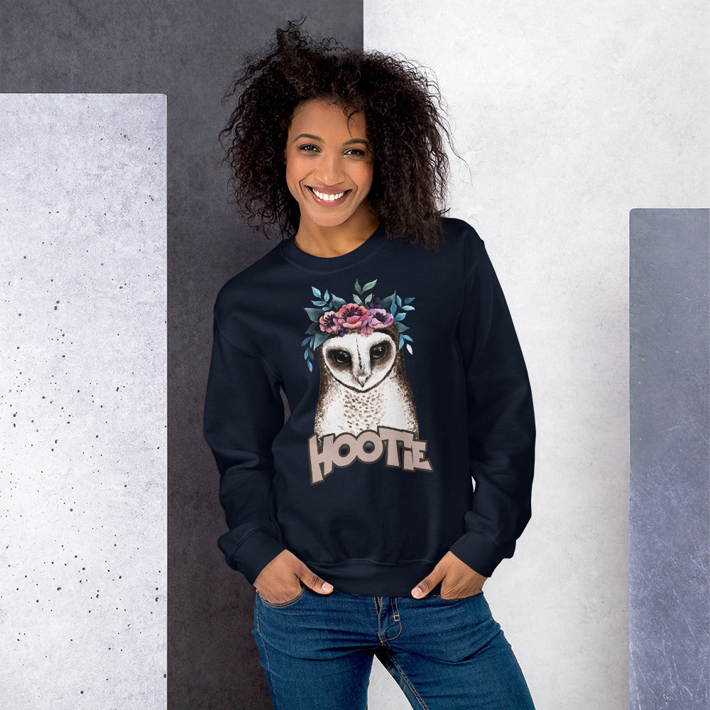 Hootie Sweatshirt | Navy Owl Hootie Sweatshirt for Women