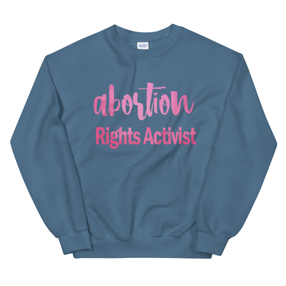 Abortion Rights Activist Crewneck Sweatshirt for Women