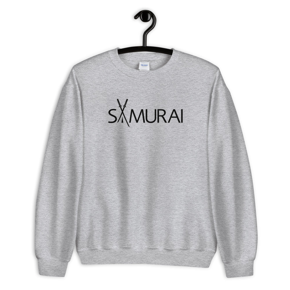 Samurai Sweatshirt | Grey Crewneck Samurai Sweatshirt for Women